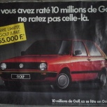 Плакат-Моdele presente: Golf jubile 1988, б/у, 100 x 77 cm и другие, Архангельск
