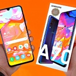 Продам новый Samsung Galaxy A70 128GB (2019) Black, Архангельск