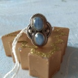 Кольцо с натуральным голубым халцедоном, Архангельск