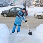 Уборка снега в городе., Архангельск