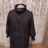 Пальто женское стеганое с трикотажной отделкой, Архангельск