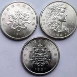 Набор из 3-х юбилейных монет Китая: Фестиваль высадки деревьев, Архангельск
