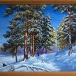 Картина - После снегопада, Архангельск