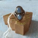 Кольцо с натуральным индийским голубым халцедоном, Архангельск
