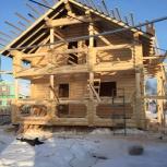 Дом Из Оцб 7,5х9 Диаметр 220 С Фундаментом на вашем участке, Архангельск