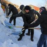 Уборка территорий от снега., Архангельск