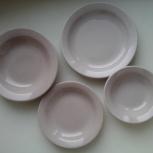 Комплект тарелок из 4 штук, б/у, состояние хорошее, Архангельск