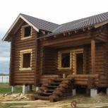 Бригада плотников построит сруб, Архангельск