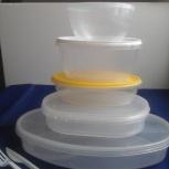 5 пластиковых контейнера для пищ. продуктов с герметично закрыв.крышк., Архангельск
