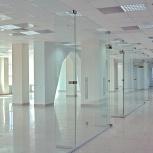 Цельностеклянные перегородки из закалённого стекла, Архангельск